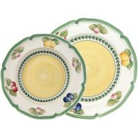 Set 12 piatti bianchi Fleurence French Garden
