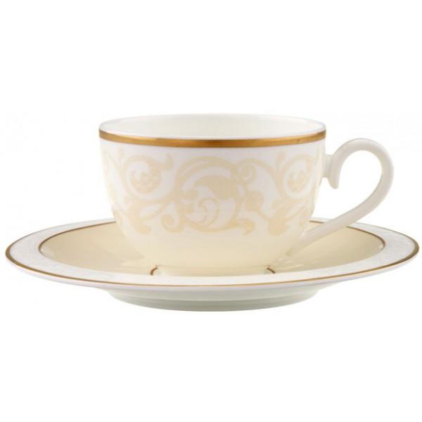 Set 6 tazze tè con piattino Ivoire