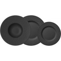Set 18 piatti neri Manufacture Rock