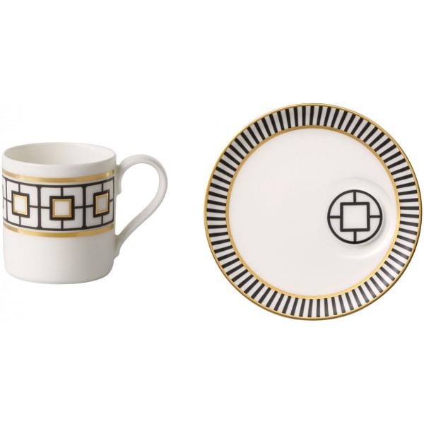 Set 6 tazze caffè con piattino MetroChic