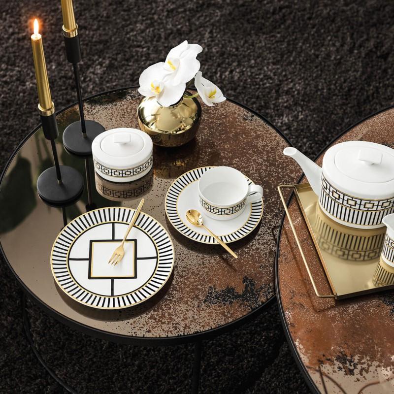 Set 6 tazze tè con piattino MetroChic