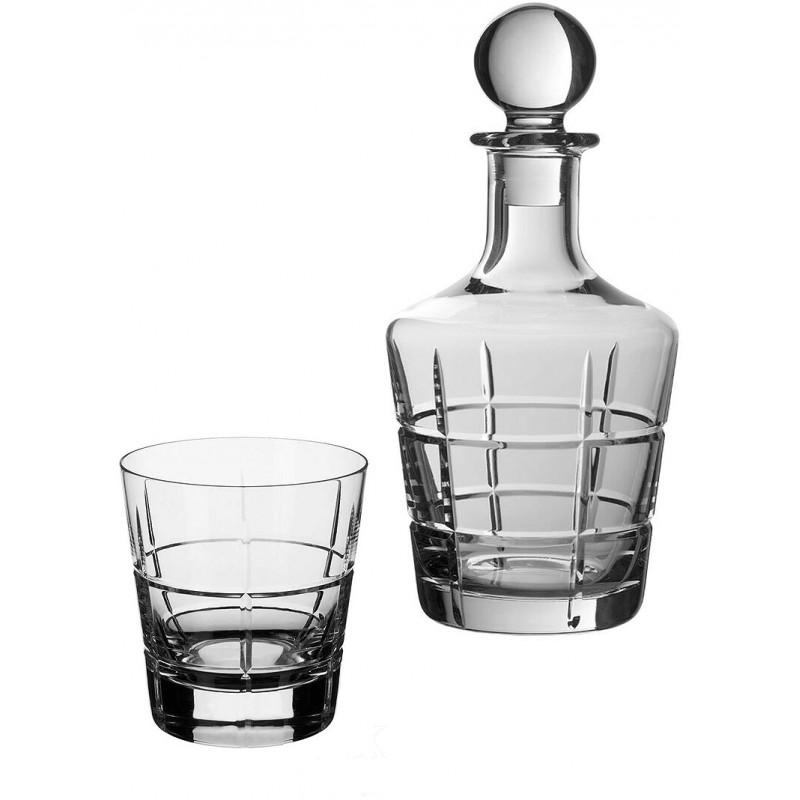 Set 6 bicchieri whisky con bottiglia in cristallo Ardmore Club