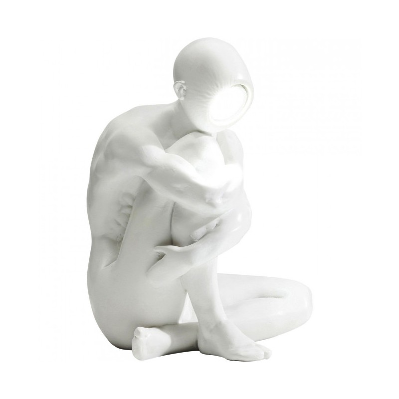 lampada da tavolo thinking man bianco led