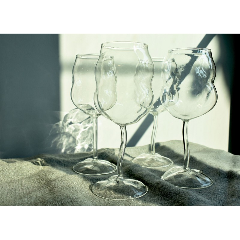 Set 4 calici sonny in vetro borosilicato 24cm