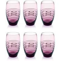 Set 6 pezzi bicchieri bibita cl40 rings
