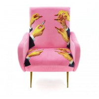 Poltrona rossetti rosa armchair toiletpaper Seletti