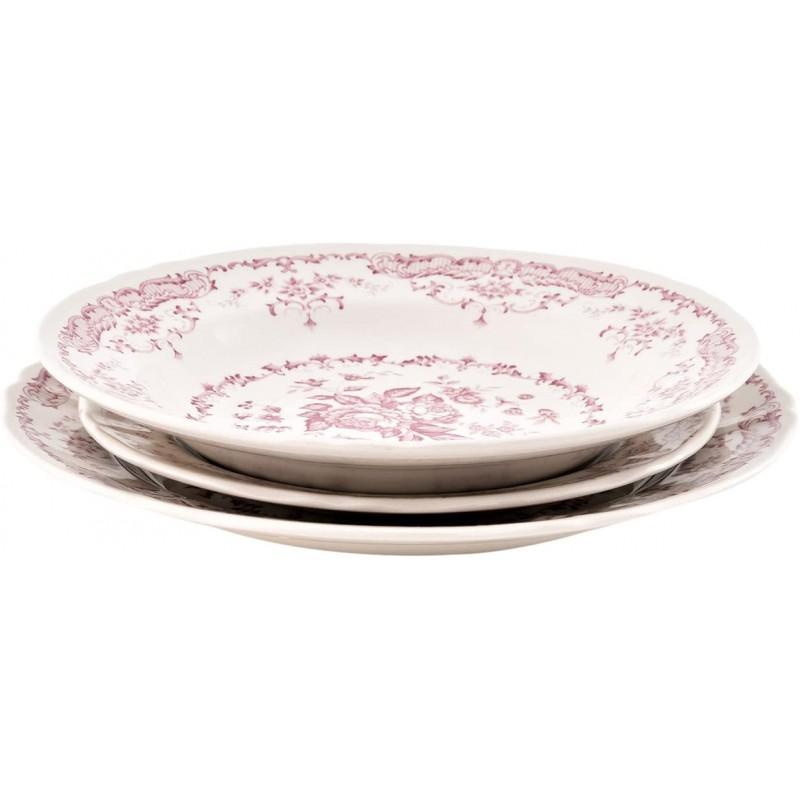 Set 18 piatti rose