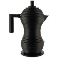 Caffettiera 3 tazze nera pulcina