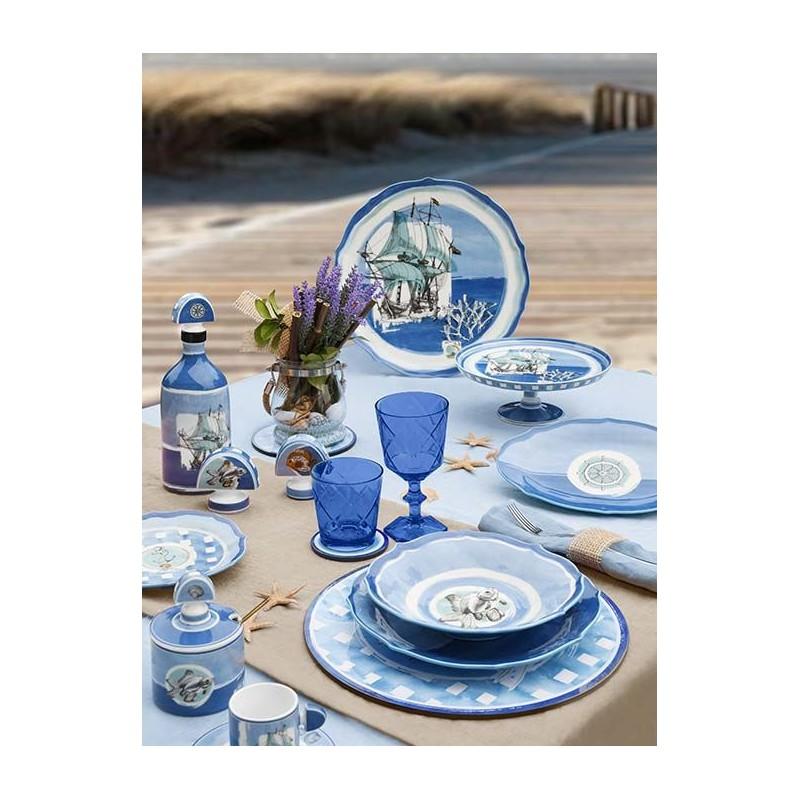 Set 18 piatti in porcellana Coastal