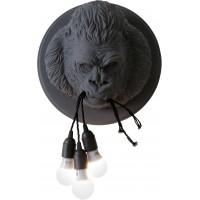 Lampada da parete grigia gorilla Ugo Rilla