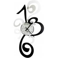 orologio truciolo bianco nero