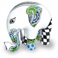 Statua elefante silver line