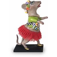 Statuina topo danzante 18cm