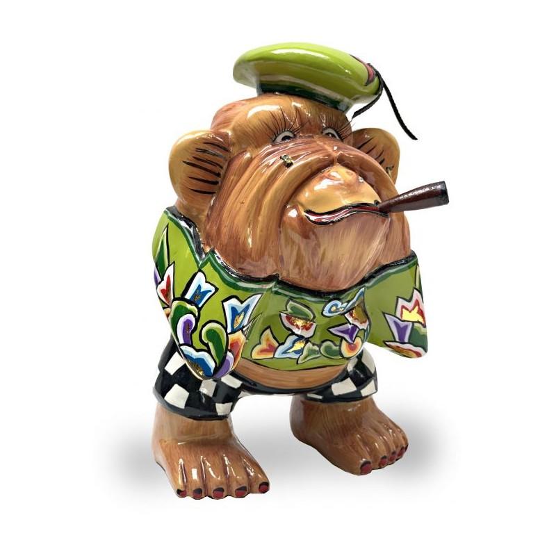 Statuina scimmia Charly non vedo 18cm