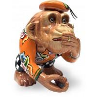 Statuina scimmia Charly non parlo 18cm