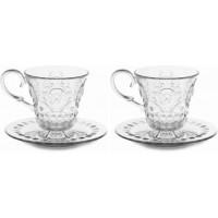 Set 2 tazze tè con piattino Baroque & Rock