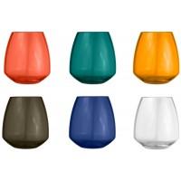 Set 6 bicchieri multicolor