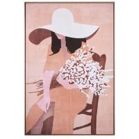 Quadro donna con cornice 80x120cm
