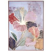 Quadro fiori con cornice 70x100cm