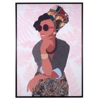 Quadro donna con cornice 70x100cm