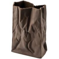 Vaso sacchetto marrone 18cm