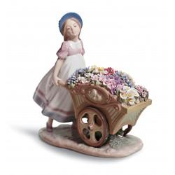 carriola di fiori