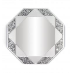 specchio ottagonale  bianco nero