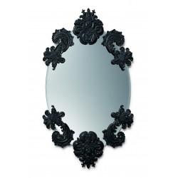 specchio ovale senza cornice  nero