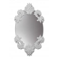 specchio ovale senza cornice  bianco