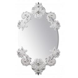 specchio ovale senza cornice bian. arg.