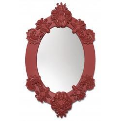 specchio ovale  rosso
