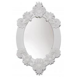 specchio ovale  bianco