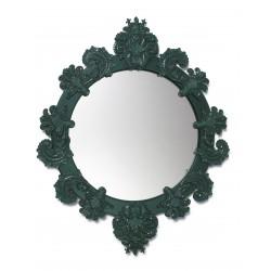 specchio rotondo piccolo  verde
