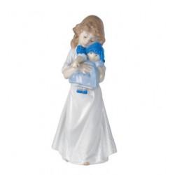 statuina bambina con bambola