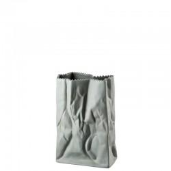 Vaso sacchetto accartocciato grigio 18cm