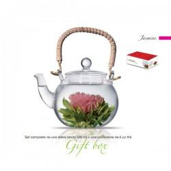 theiera vetro 500 ml con tea box 6pz jasmine
