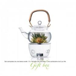 theiera 1000 ml con tea box 6pz e fornello jasmine