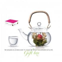 theiera 1000 ml con tea box 6pz e 6 tazze soft dre