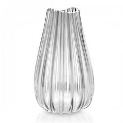 menhir vaso h. 40 cm. bocca ondulata t/f trasparente