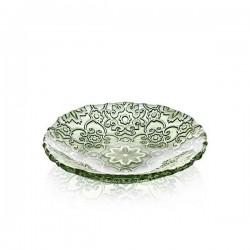 arabesque piatto cm18 decoro verde giada cromo