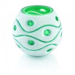 vaso soffiato a bocca verde 22cm