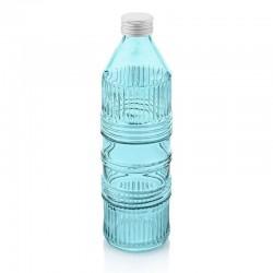 industrial chic bottiglia acqua turchese con tappo a