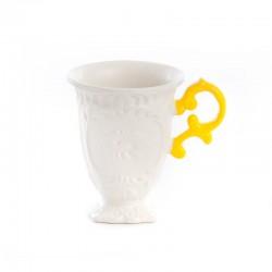 tazza in porcellana i wares manico giallo