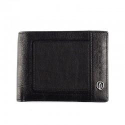 portafoglio uomo con portamonete in pelle
