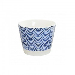 NIPPON BLUE TAZZA  8.5X6.8CM WAVE