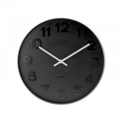 Orologio da muro Mr. Black numeri acciaio lucido