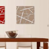 geometrico + acciaio inox 90x90 cm acciaio