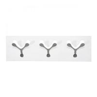 appendipanni da parete spoon bianco tre