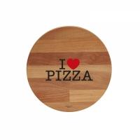 tagliere tondo i love pizza / black & red