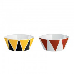 circus set di due coppette in bone china decorata